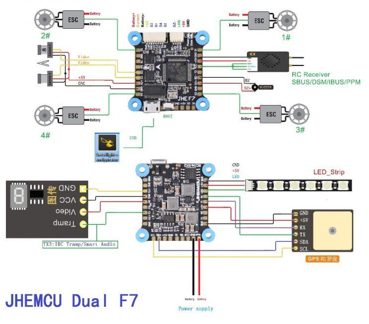JHEMCU 30.5x30.5mm Dual Gyro F7 Flight Controller